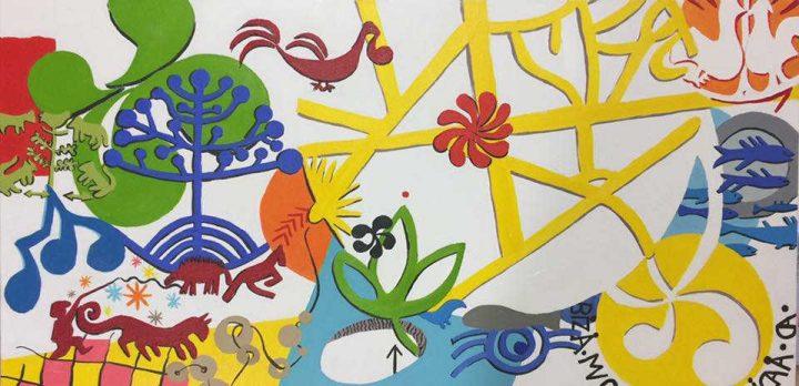 Pays basque - Etxe ikurretatik - à partir des linteaux et stèles - peintures de Marythé